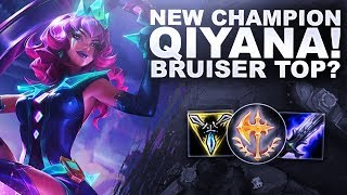NEW CHAMP QIYANA, DOES SHE WORK AS A BRUISER TOP?  | League of Legends