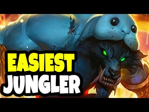 EASIEST NO BRAIN JUNGLE FOR LOW ELO  - Warwick Jungle Gameplay