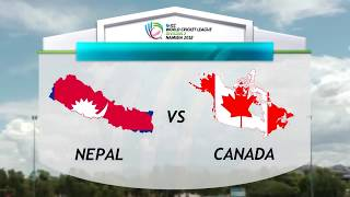 Nepal Vs Canada in World Cricket League Division 2 2018