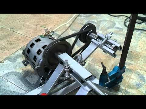 Diy lathe with a washing machine motor