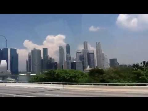 Singapore Changi Airport going to Star Cruise Port passing in Marina Bay Sands!Singapore is amazing!