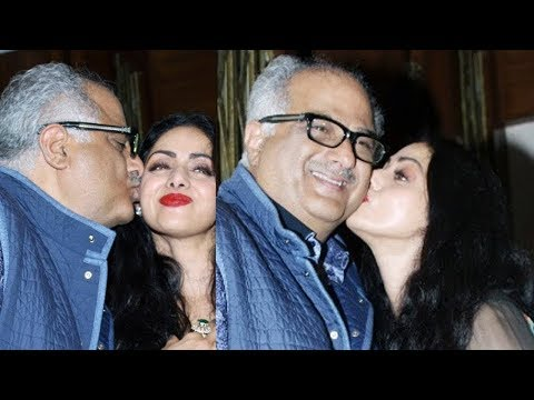 Sridevi and Boney Kapoor KISS At Her 54th Birthday Party