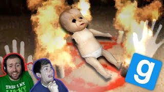 BABY HULK AND SCARES GALORE!!! | GMod Horror Maps: He** On Earth