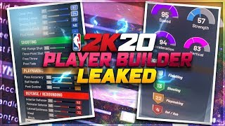 NBA 2k20 *New* MyPlayer Builder LEAKED and Explained! New Archetype, Badge and Potential System