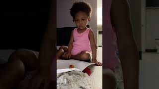 Toddler does fruit snack challenge | Hilarious