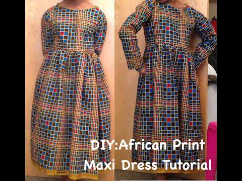 DIY:  AFRICAN PRINT MAXI DRESS WITH ZIPPER (ANKARA)