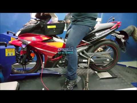 Yamaha Y15ZR aRacer ECU Dyno Tuning - Motodynamics Technology Malaysia
