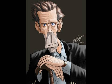 Dr. House / Hugh Laurie Caricature - SpeedPainting