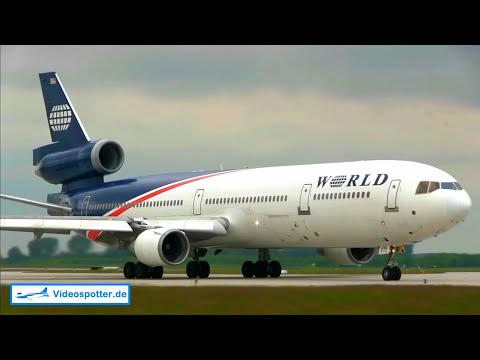 ✈[Full HD] WHAT A SOUND!! MD-11 World Airways - CLOSE @ Leipzig Airport