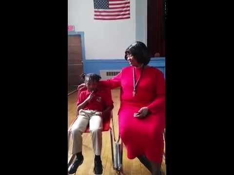 This Little Light of Mine / sung by Sharon Junior Academy's 5 year old Tahkara Gregory - 10/20/2014