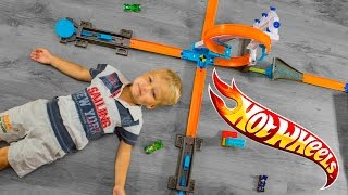 Hot Wheels Track Builder System Stunt Kit. ХотВилс набор для трюков. DLF28.