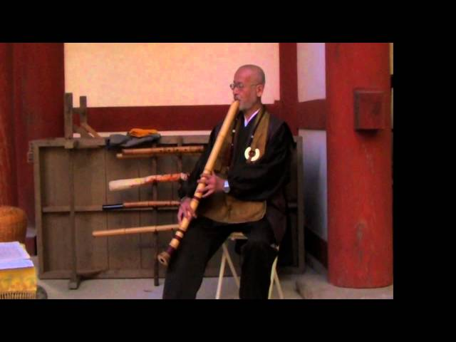 Mountain Priest Playing the Shakuhachi!