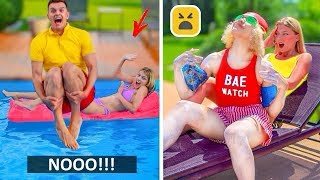TYPES OF PEOPLE AT POOL | Relatable Facts