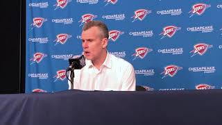 Thunder vs Lakers - Billy Donovan