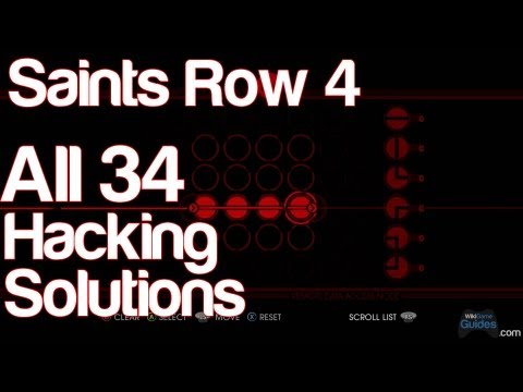 Saints Row 4 - All 34 Hacking Solutions Puzzle Answers How to Hack