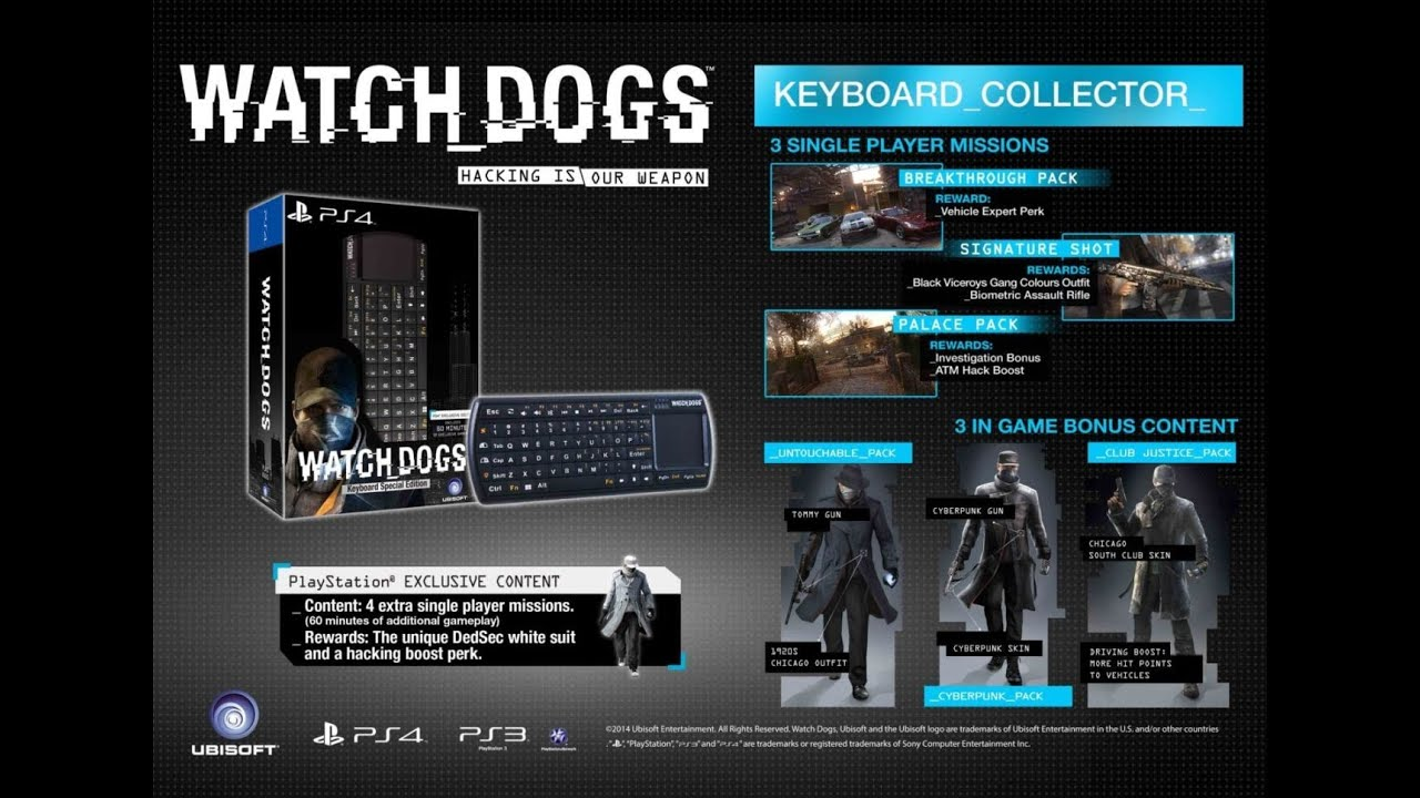 Watch Dogs Asia Special Edition Keyboard Unboxing Youtube