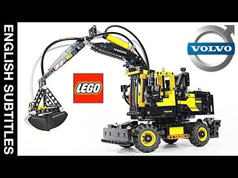 ПОЖАЛУЙ, ЛУЧШИЙ пневматический ЛЕГО Техник 42053 Экскаватор VOLVO EW 160E -  LEGO Technic set 42053