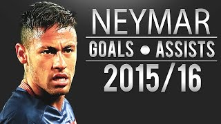 Neymar All Goals&Assists - English Commentary   2015/16   HD