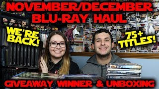 November/December Blu-ray Haul // Giveaway Winner Announced!!