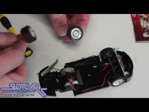NSR rear axle upgrade kit Scalextric Porsche - Slotcar NZ