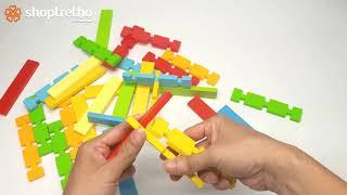 Đồ chơi ghép hình cho trẻ em | Bé tập xếp hình ngôi nhà và nhiều hình khác với đồ chơi xếp hình