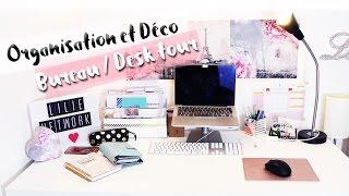 Organisation & décoration bureau • Rangement DIY   My desk tour