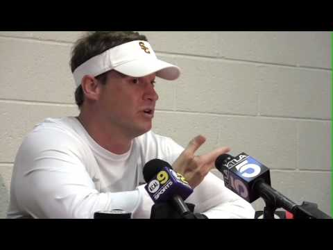 Lane Kiffin, USC 2013 Spring Game