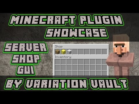 Minecraft Bukkit Plugin - Server Shop Gui - Super shop plugin