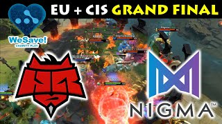 EPIC GAME 3,4,5 EU+CIS GRAND FINAL !!! NIGMA vs HR - WeSave! Charity Play DOTA 2