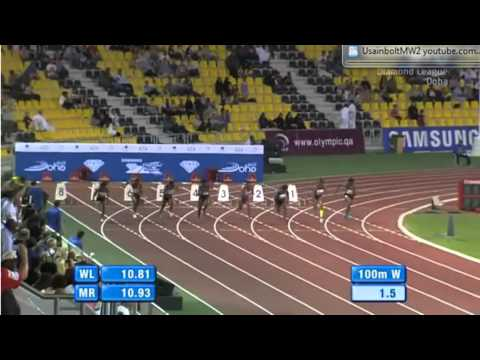 100M Women Diamond League Doha Qatar 2012
