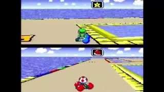 Super Mario Kart - Two-Player Battle Mode (Actual SNES Capture)