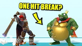 Super Smash Bros. Ultimate - Who Can Break King K. Rool's Belly Armor in One Hit?