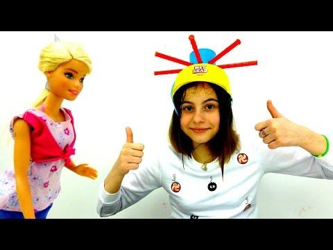МОКРАЯ ГОЛОВА челлендж #лучшиеподружки 👯 Играем с Викой и Барби! WET HEAD ⛑ распаковка
