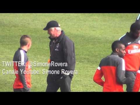 Psg, entrainement 26.04.2013 - Thiago Silva, Beckham, Lavezzi, Thiago Motta