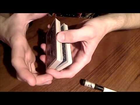 Снятие колоды карт одной рукой - обучение