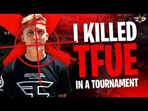 I KILLED TFUE IN A TOURNAMENT?! TOP PRO GAMEPLAY! (Fortnite: Battle Royale)