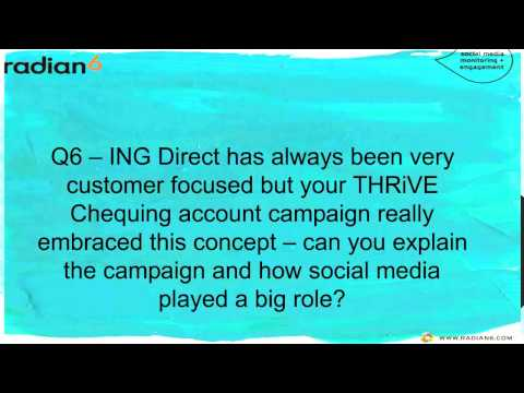 ING Direct and Radian6 Discuss Social Media Monitoring and Listening