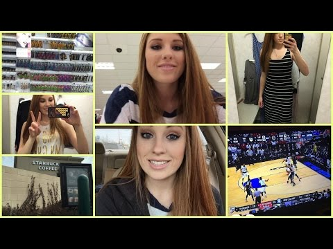 VLOG: Shopping at Target, Starbucks, & March Madness!
