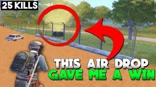 I WON BECAUSE OF THIS AIR DROP! | 25 KILLS |  PUBG Mobile