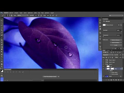Haciendo gotas de agua en Photoshop CS6