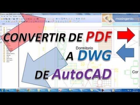 Convertir pdf a dwg de autocad y dxf cad para poder for Pdf a cad