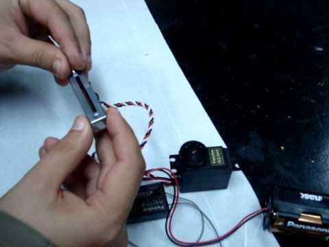 ENTRETEM.COM | Futaba S3305 working with a sliding pot 5KOhm