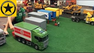 BRUDER TOY TRUCKS Scania CONTAINER TERMINAL bworld LOGISTICS