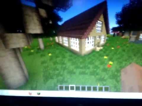 Minecraft 1 4 7 como hacer una casa muy bonita grande y for Como hacer una casa clasica de ladrillo en minecraft