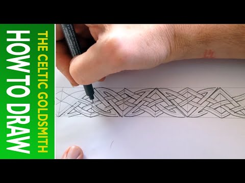 How to Draw Celtic Patterns 130 - Pictish border interlace Part 3 of 5