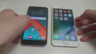 iPhone 7 Plus vs HTC 10 Speed Test, AnTuTu, Camera Speed, Fingerprint Scanner