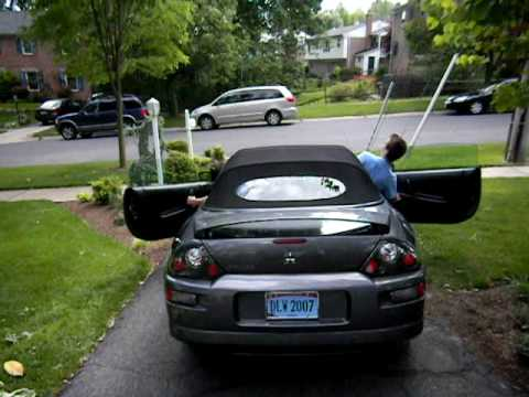 Title: 2001 Mitsubishi Eclipse Spyder GT Convertible Top Demonstration