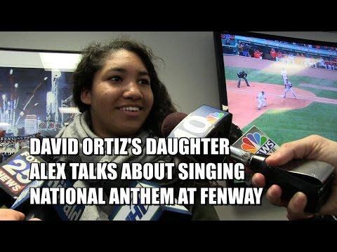 David Ortiz's Daughter Alex Talks about Singing National Anthem at Fenway