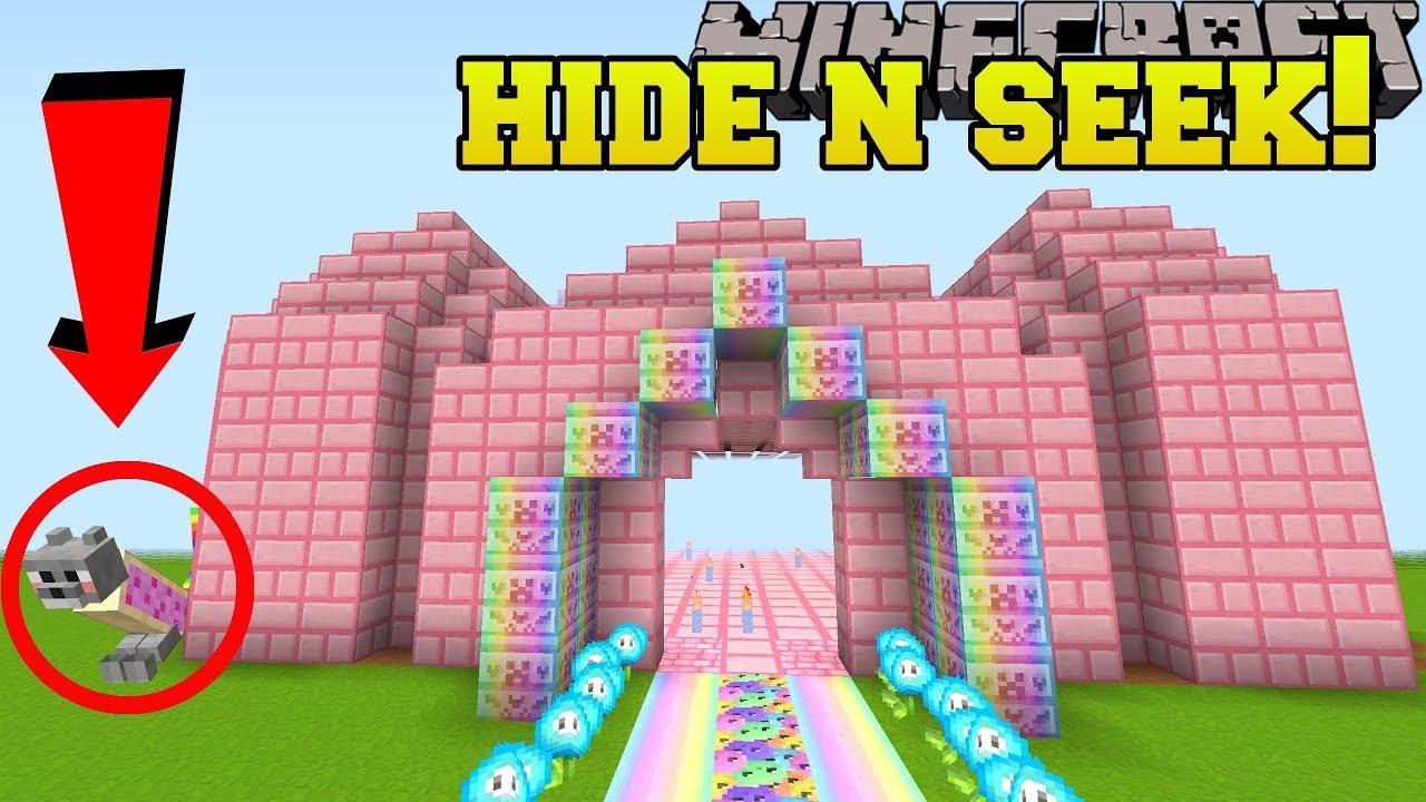Minecraft: NYAN CAT HIDE AND SEEK!! - Morph Hide And Seek - Modded Mini-Game