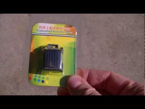 Solar Powered Toy Car Review - The Smallest Car In The World